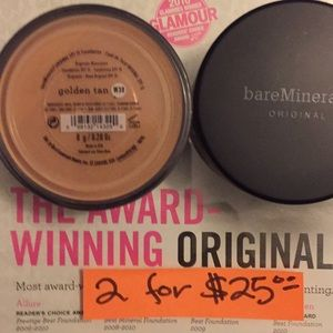 bareMinerals Makeup - Bare Mineral Foundation Golden Tan